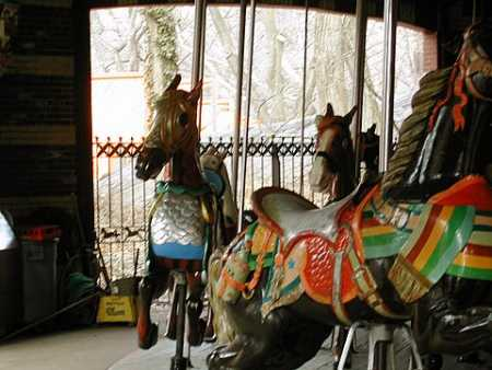 The carousel in Central Park