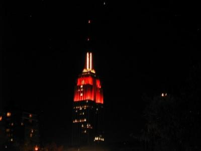 Empire State Building at night, October 30, 2005