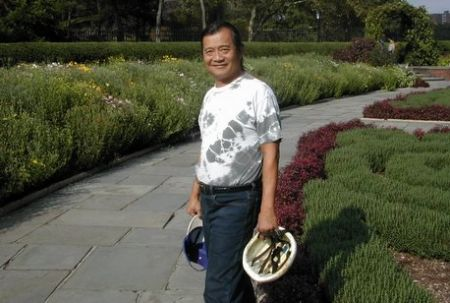 A Guy In New York at the Conservatory Garden in Central Park