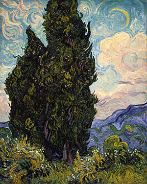 Cypresses, 1889, Vincent van Gogh
