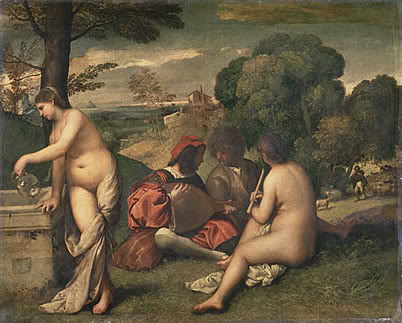 Titian, Pastoral Concert (Concert Champêtre), c. 1510, oil on canvas